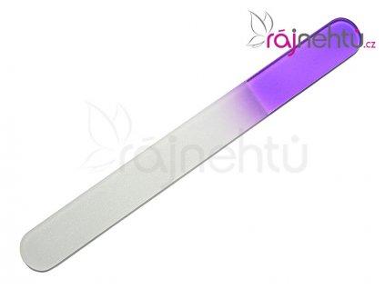 Pilník skleněný velký - fialový