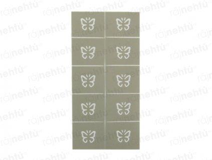 Dekorační šablony na nehty - motiv motýl