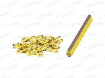 FIMO zdobení - tyčinka, motiv ovoce - hruška
