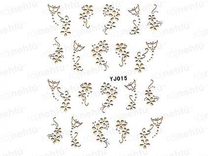 Samolepky na nehty - zlaté 015