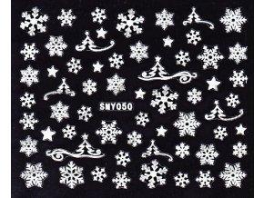 Samolepky na nehty 3D - Sněhové vločky SMY50