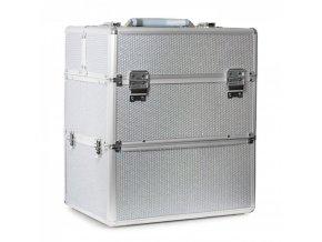 kufřík SENSE 2v1 glitter stříbrný 1