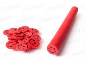 FIMO zdobení - tyčinka, motiv smile - červený