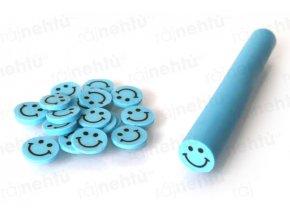 FIMO zdobení - tyčinka, motiv smile - modrý