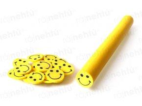 FIMO zdobení - tyčinka, motiv smile - žlutý
