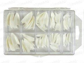 Ráj nehtů - nehtové tipy Stiletto bílé - vel.0-9 - sada - 100ks