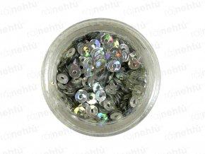 Zdobení na nehty, kolečka (dutá) CDčka - stříbrná