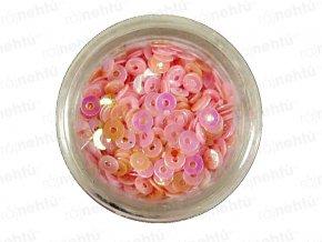 Zdobení na nehty, kolečka (dutá) CDčka - růžová
