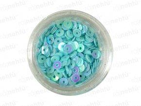 Zdobení na nehty, kolečka (dutá) CDčka - modrá