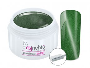 UV gel magneticky cat eye green