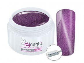 UV gel magneticky cat eye purple
