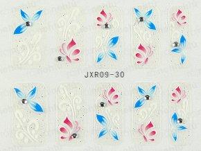 Samolepky na nehty 3D - serie JXR30