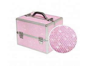 kufřík TRIO růžový glitter 2