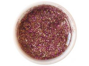 CEDRO sole - Barevný UV gel GLITTER - Fialovozlatý - 5 ml
