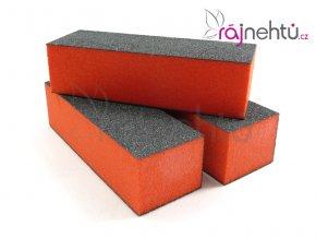 Pilník blok oranžový - jemný 100/100