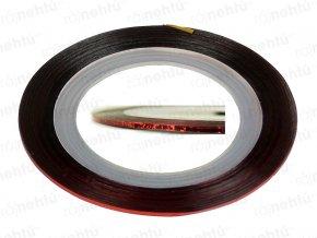 Zdobící páska - glitter červená