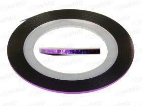 Zdobící páska - glitter fialová