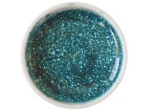 CEDRO sole - Barevný UV gel GLITTER - Tyrkysově zelený - 5 ml