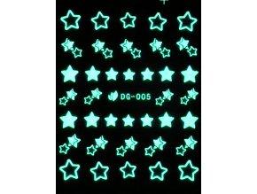 Vodolepky svítící ve tmě - Hvězdičky