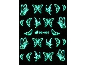 Vodolepky svítící ve tmě - Motýl
