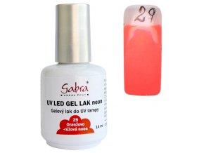 GABRA UV gel lak - Oranžovo-růžová neon