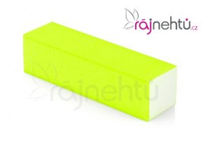Pilník blok barevný - neon žlutý