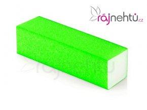 Pilník blok barevný - neon zelený