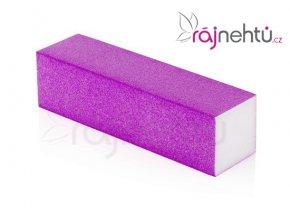 Pilník blok barevný - neon fialový