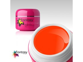 Barevný UV gel Fantasy Neon 5g - Dark Orange