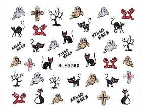Samolepky na nehty glitrové Halloween - 926D