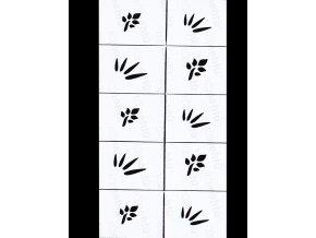 Dekorační šablony na nehty - motiv jaro