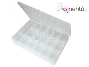 Plastový box na zdobení s přihrádkami