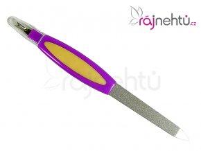 Pilník na nehty - kovový s ořezávačem kůžičky
