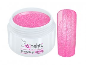uv gel neon glimmer pink ruzovy