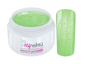 uv gel neon glimmer green zeleny