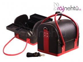 Kosmetický kufřík - černo-červený