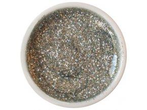 CEDRO sole - Barevný UV gel GLITTER - Stříbrný - 5 ml