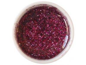 CEDRO sole - Barevný UV gel GLITTER - Vínový - 5 ml