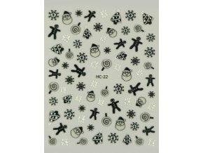 Samolepky na nehty 2D Vánoce - HC-22