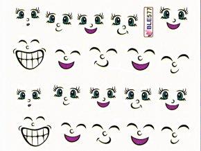 Vodolepky dětské - Obličeje (577)