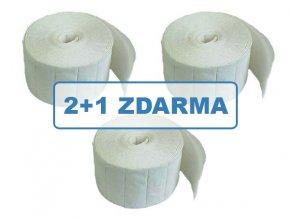 Čistící papírové polštářky 500 ks, 2+1 ZDARMA