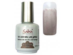 GABRA UV gel lak - Třpytivě hnědý glitter