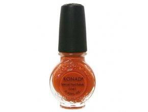 Speciální lak Konad 11ml - tmavě oranžový