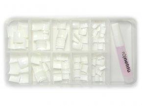 Ráj nehtů - nehtové tipy krátké bílé - vel.0-9 - sada - 100ks