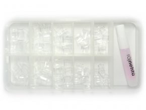 Ráj nehtů - nehtové tipy krátké čiré - vel.0-9 - sada - 100ks