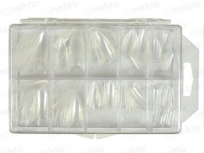 Ráj nehtů - nehtové tipy Stiletto čiré - vel.0-9 - sada - 100ks