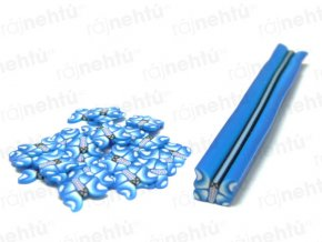 FIMO zdobení - tyčinka, motiv motýl - modrý