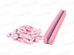 FIMO zdobení - tyčinka, motiv motýl - světle růžový