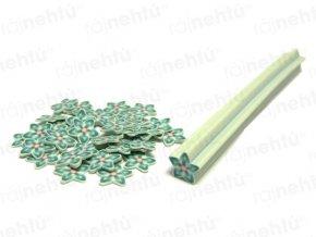 FIMO zdobení - tyčinka, motiv kytka hvězdice - světle zelená