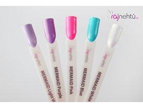 Ráj nehtů Barevný UV gel MERMAID - Pink - Růžový 5ml